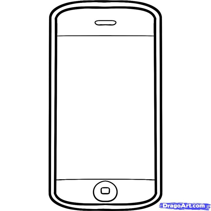 cellphone clipart drawing