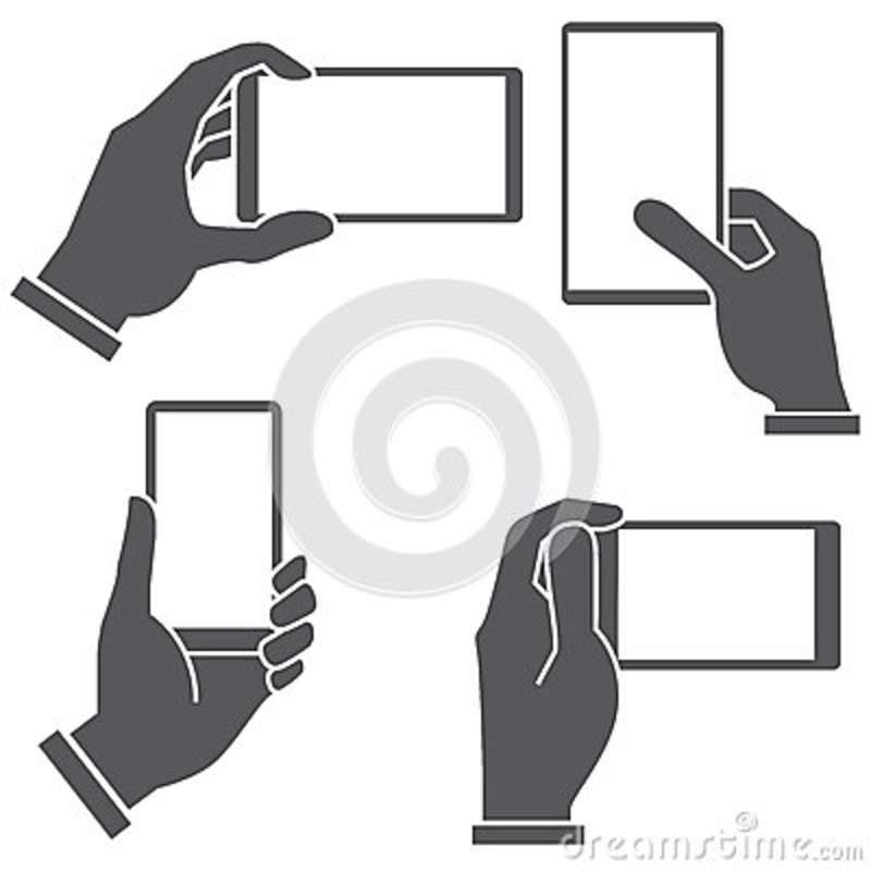 Cellphone clipart hand holding. Black cell phone bing