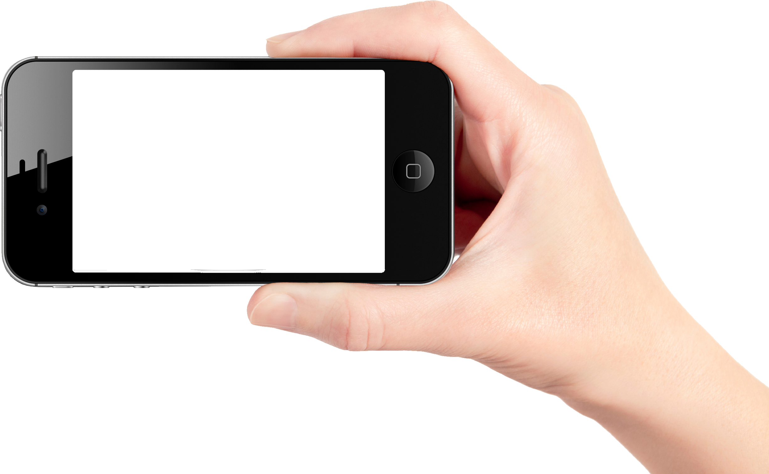 Mobile in png transparent. Cellphone clipart hand holding
