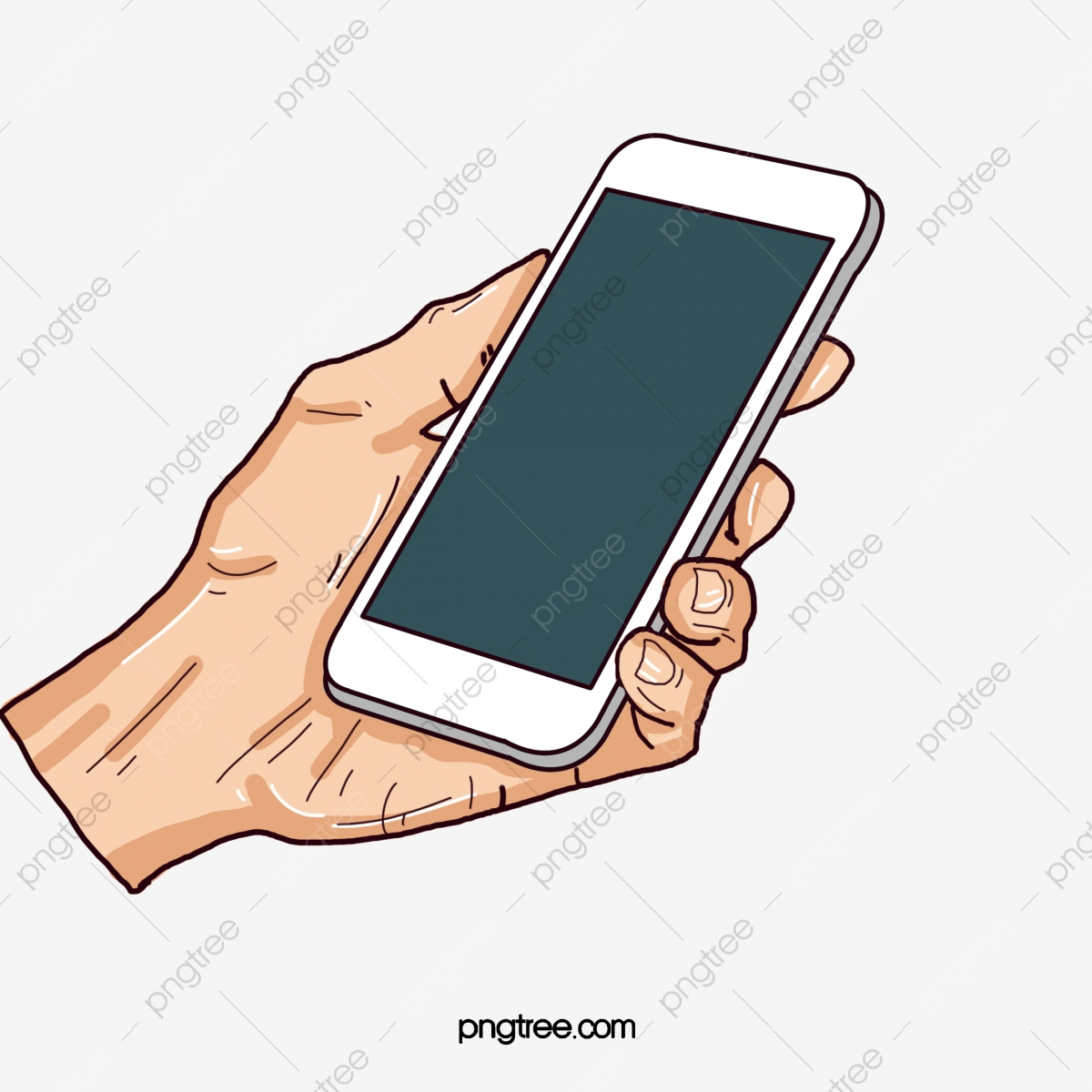 Hand holding a cell. Phone clipart mobile calling
