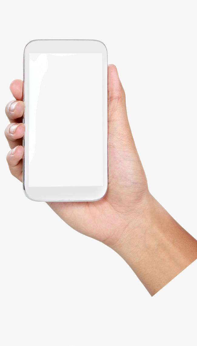 A cell phone gesture. Cellphone clipart hand holding