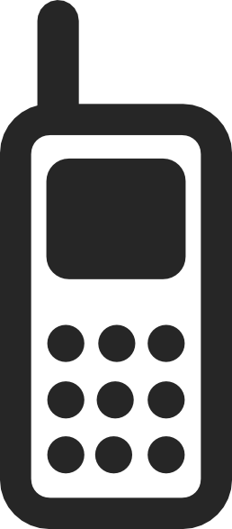 Cell phone vector png. Mobile icon clip art