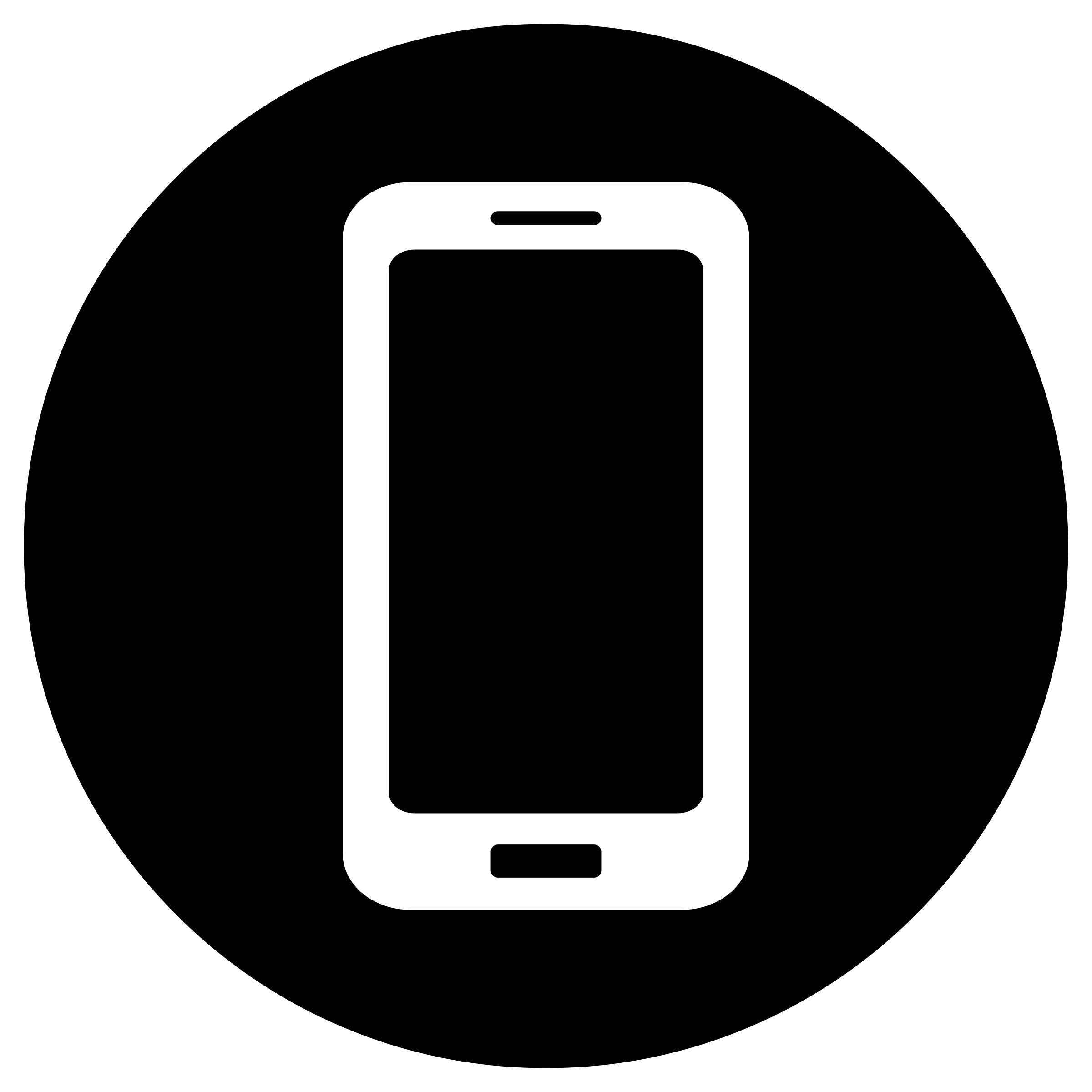 White on black big. Phone clipart mobile icon