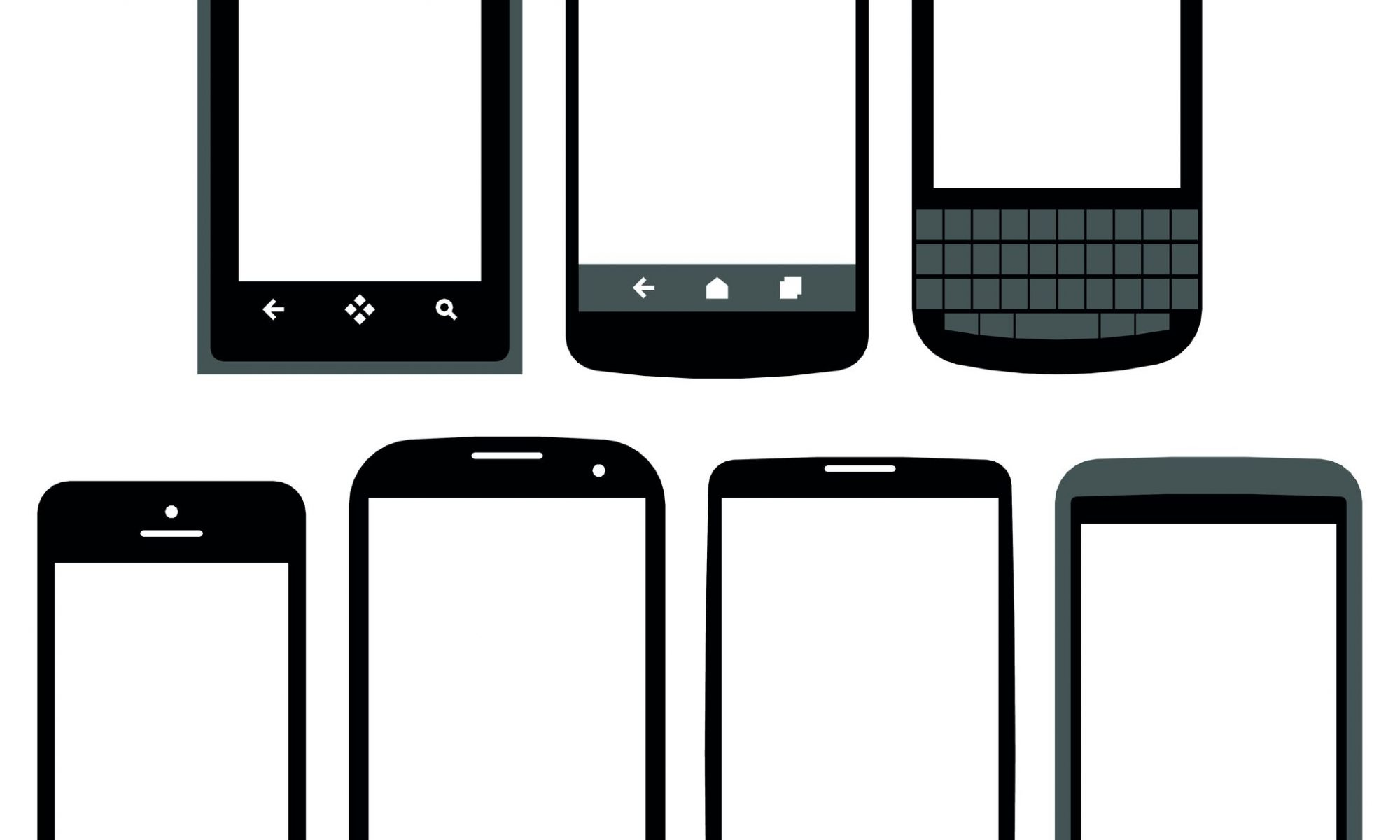 Mobile devices robot tip. Cellphone clipart informative