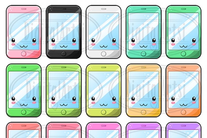 Cellphone clipart informative. Kawaii cell phone by