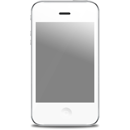 Iphone clipart. White icon png image