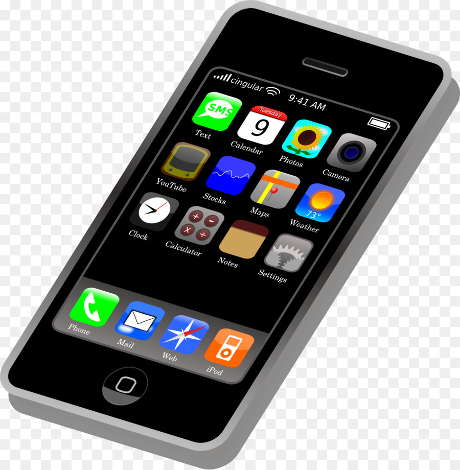 Cellphone clipart iphone. Mobile cartoon telephone email