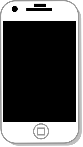 Cell phone panda free. Cellphone clipart iphone