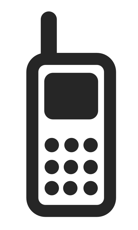 Mobile phone by svm. Cell clipart transparent background