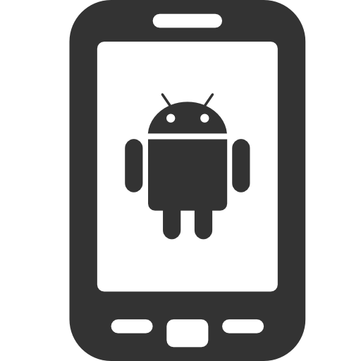 Cellphone clipart mobile phone android. Cell phones icon free