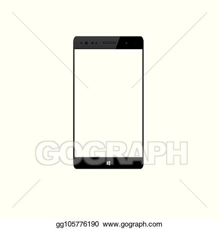 Cellphone clipart mobile phone android. Vector illustration