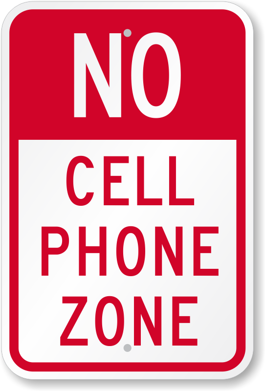 Cellphone clipart mobile sign. No cell phone signs