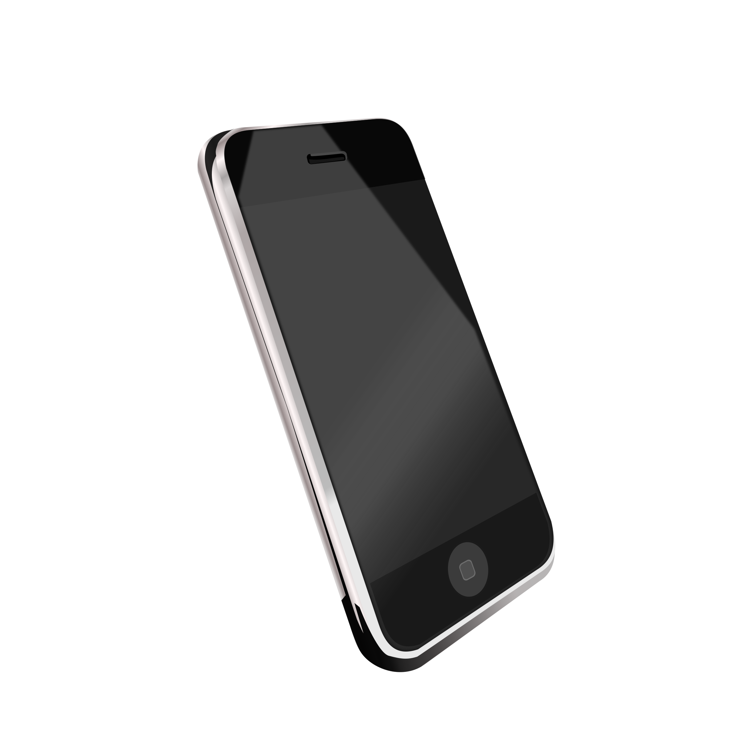 Modern cell big image. Phone clipart moble