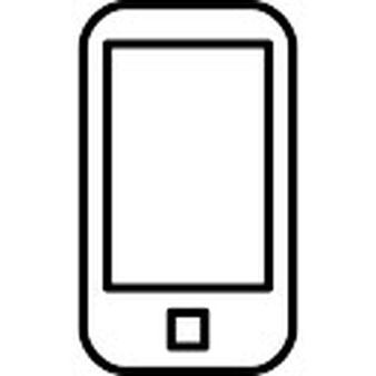 cellphone clipart outline