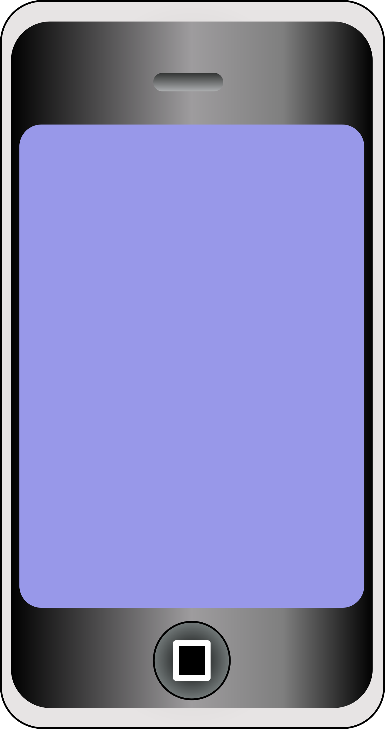 Cellphone clipart phone screen. Mobile with big image