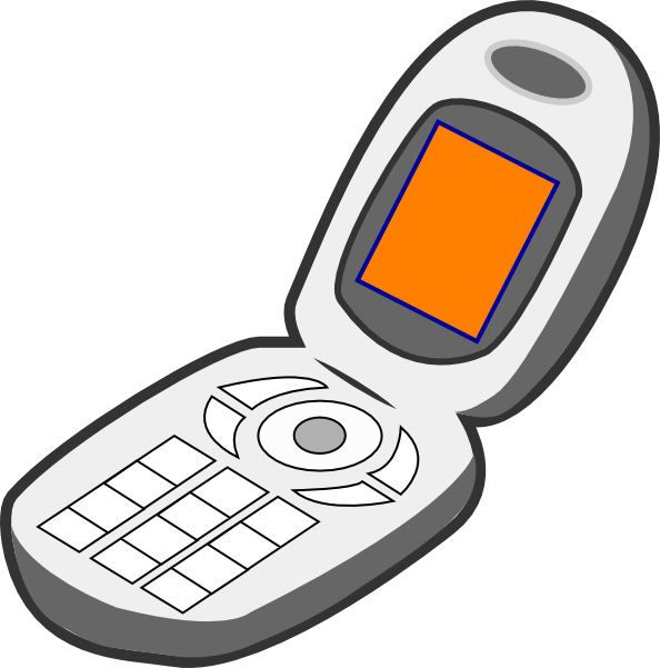 Cell phone of . Clipart telephone solid thing