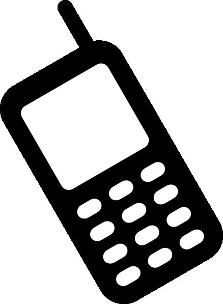 Mobile phone clip art. Cellphone clipart vector
