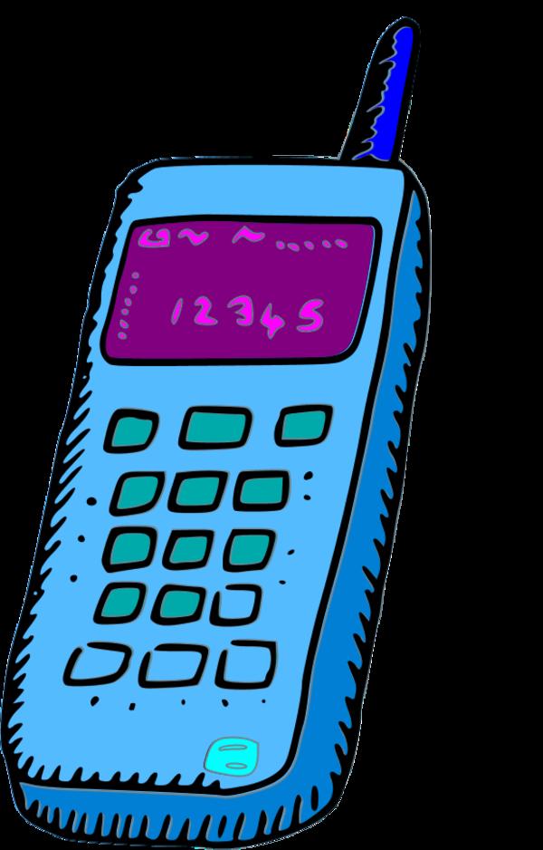 Cellphone clipart vector. Analogue mobile phone clip