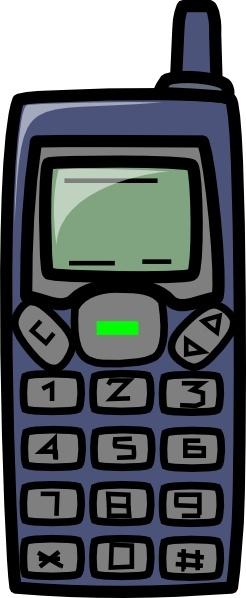Cellphone clipart vector. Cell phone clip art