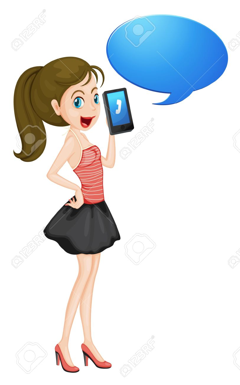 collection of girl. Cellphone clipart woman