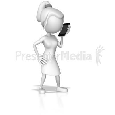 Cellphone clipart woman. Talk standing still business
