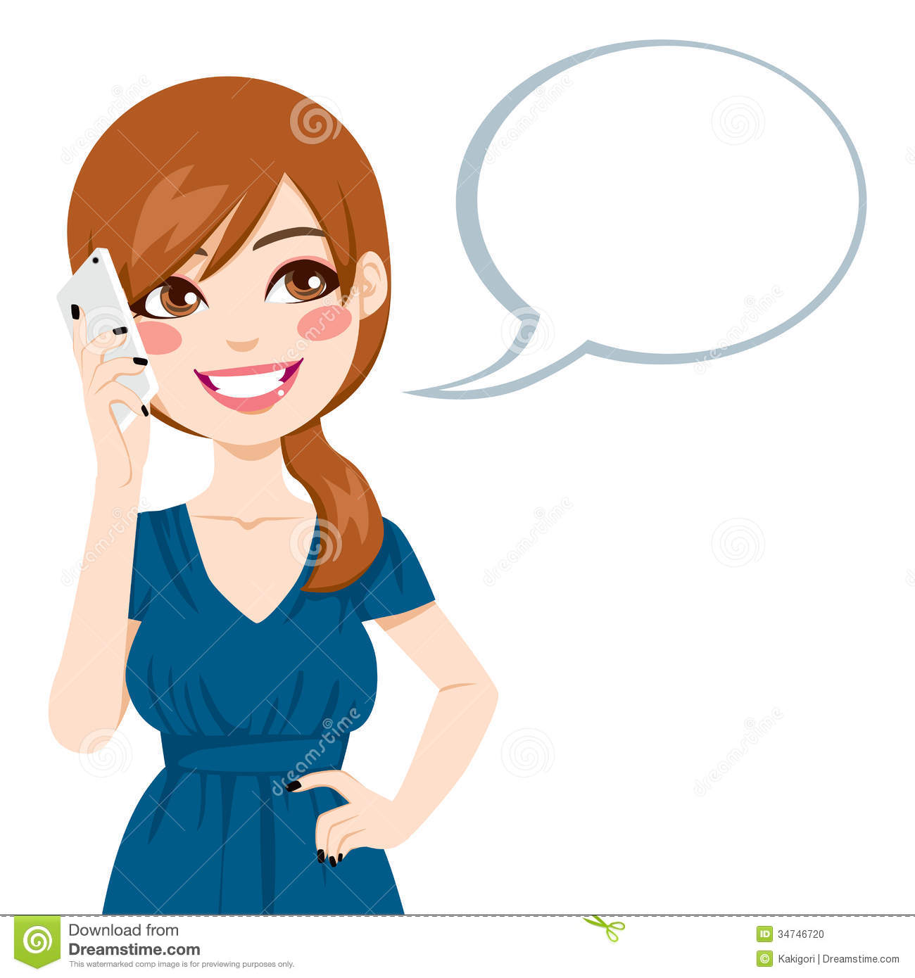Girl on phone lady. Cellphone clipart woman