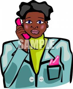 Cellphone clipart woman. A black talking on