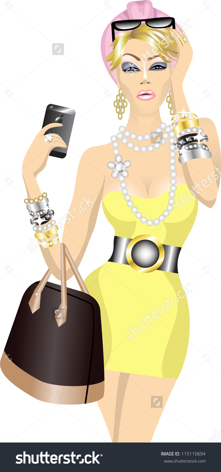 Beautiful pictures for mobile. Cellphone clipart woman