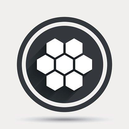 Honeycomb sign honey premium. Cells clipart logo