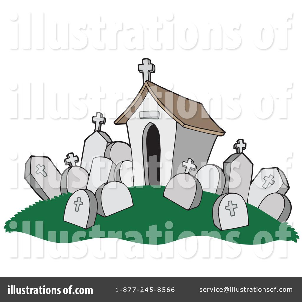 Cemetery clipart. Graveyard illustration by visekart