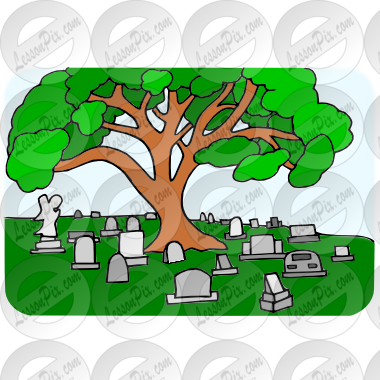 Picture for classroom therapy. Cemetery clipart