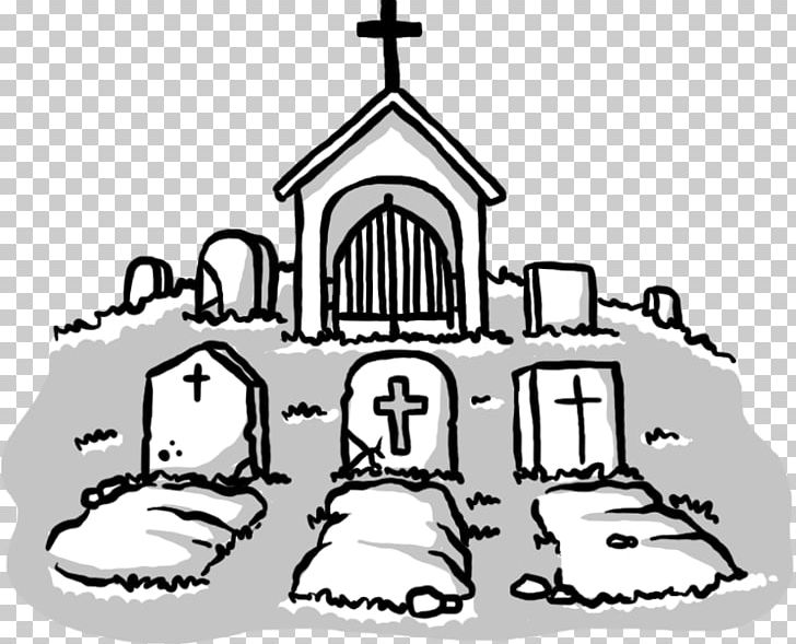 Cemetery drawing tomb png. Grave clipart black and white