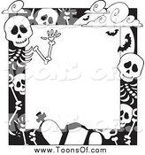 Cartoon new stock designs. Cemetery clipart border