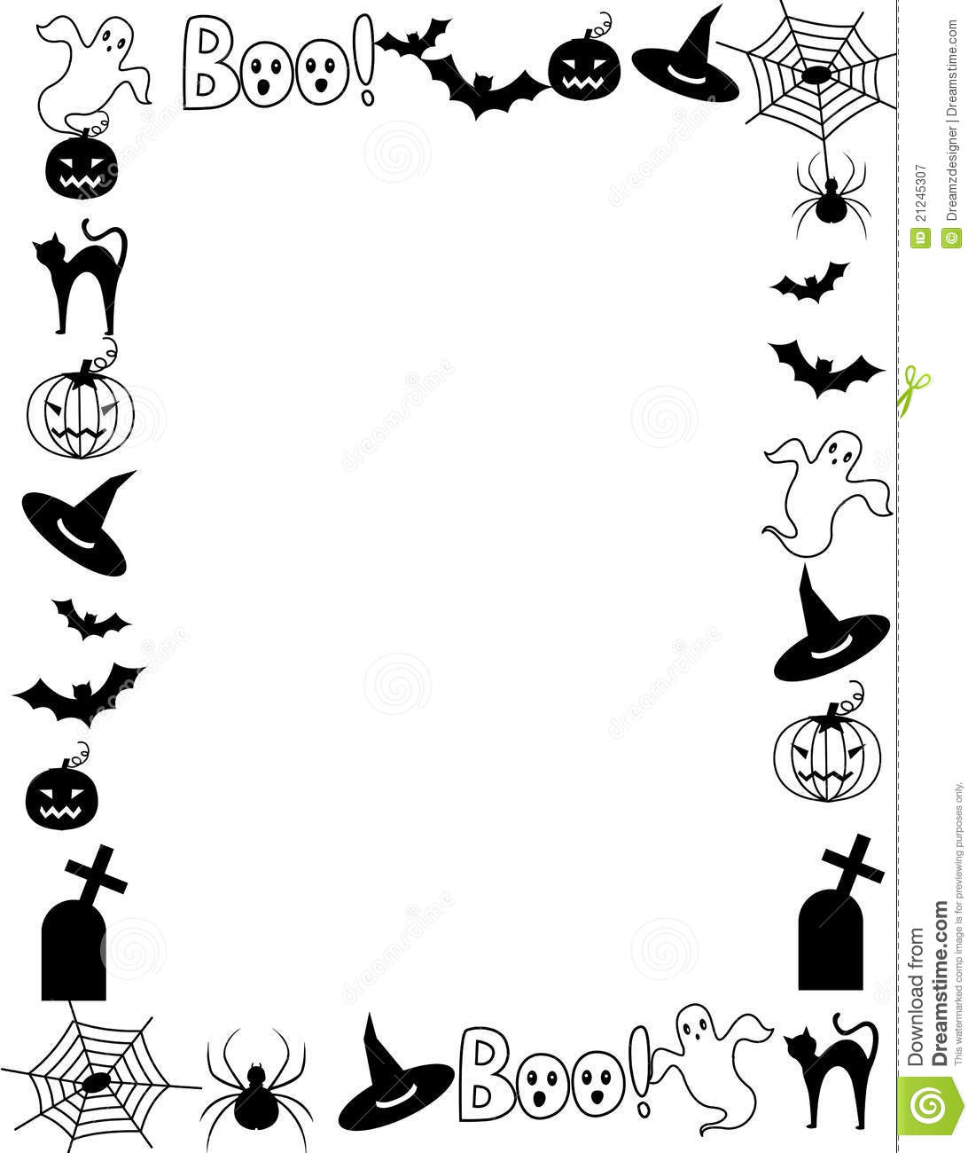Cemetery clipart border.  collection of halloween