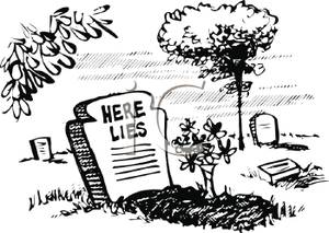 Cemetery clipart cartoon. Black and white of