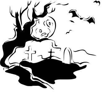 Cemetery clipart cartoon. Free graveyard border cliparts