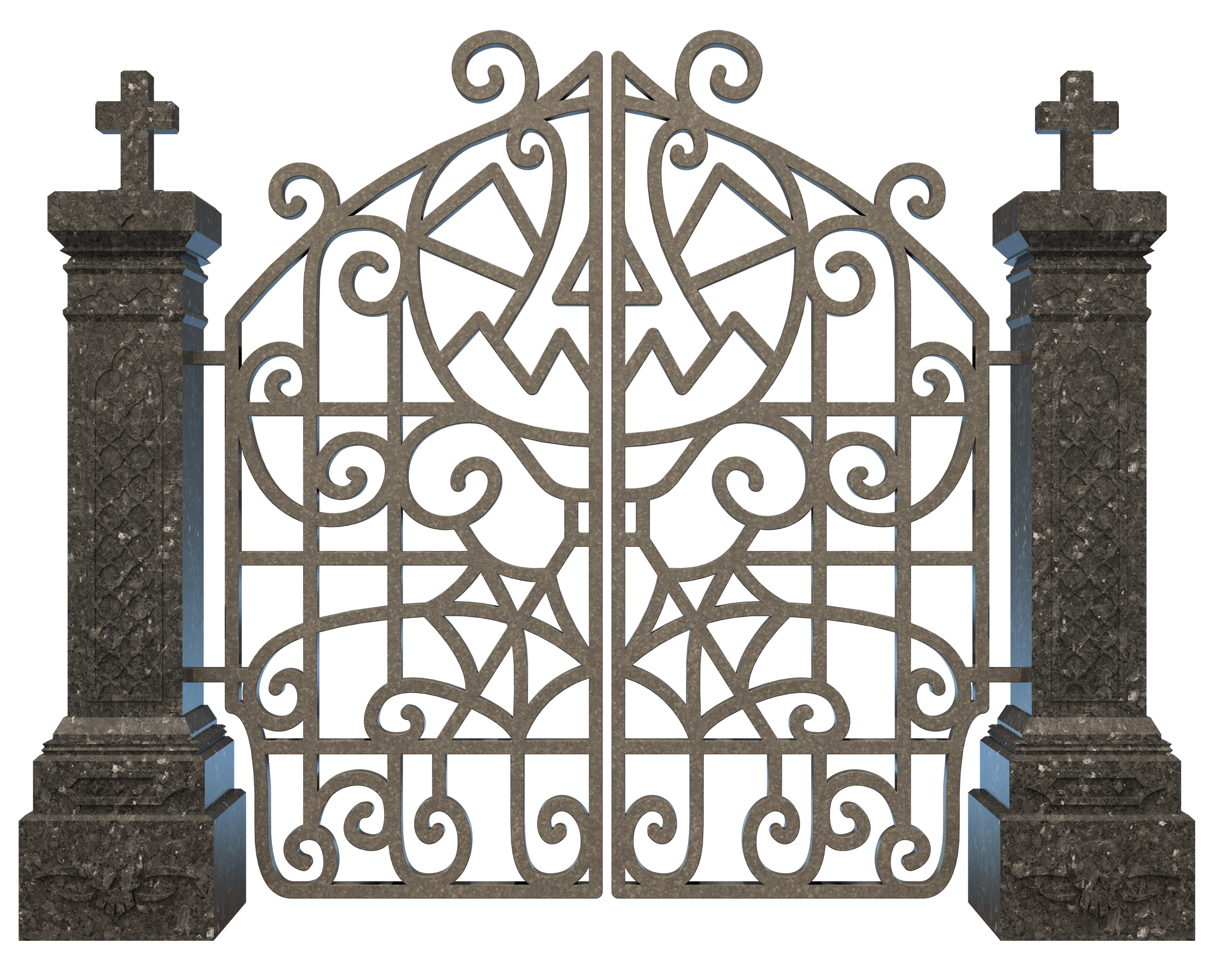 Gate clipart creepy. Halloween graveyard png image