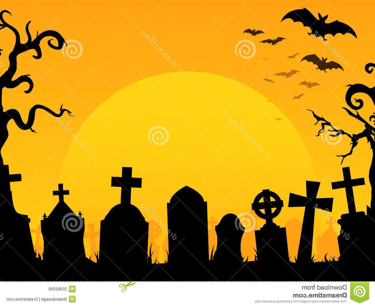 Cemetery clipart cute. Halloween graveyard clip art