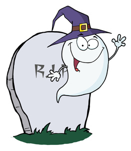Free ghost image halloween. Cemetery clipart cute