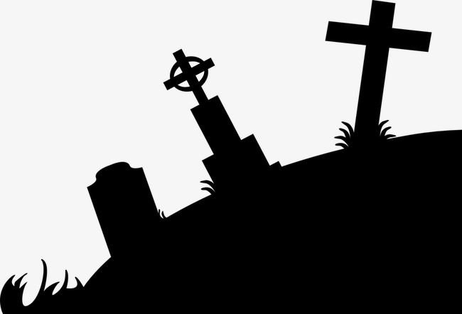 Cemetery clipart cute. Silhouette sketch black png
