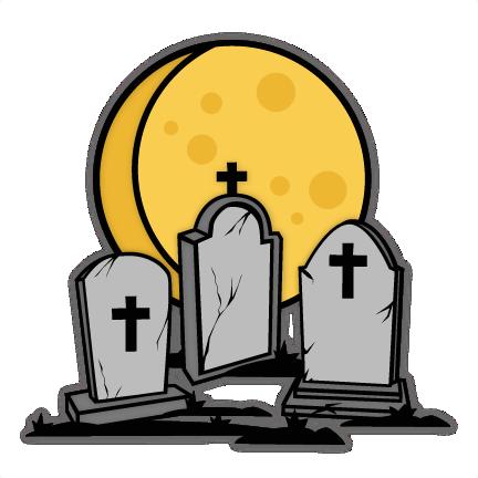 Graveyard svg cuts scrapbook. Cemetery clipart cute