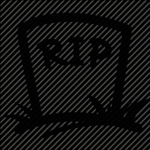 Graveyard clipart. Rip headstone graveicon logo