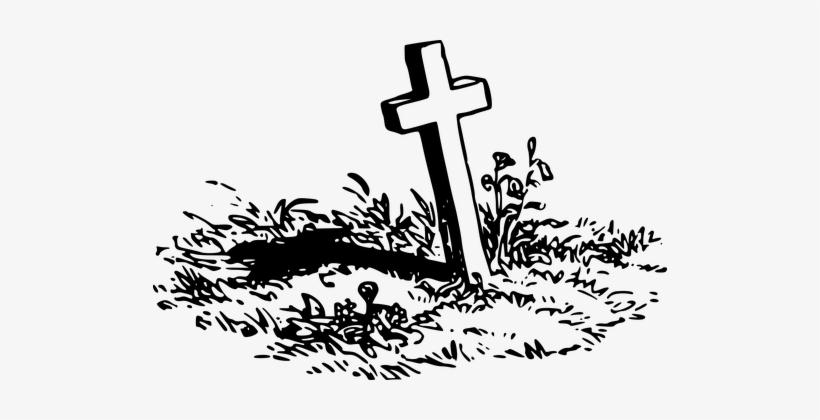 Cemetery clipart gravesite. Burial cross dead death