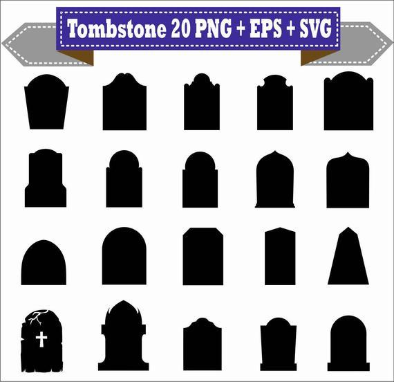 Cemetery clipart graveyard. Tombstoen tomb halloween vector