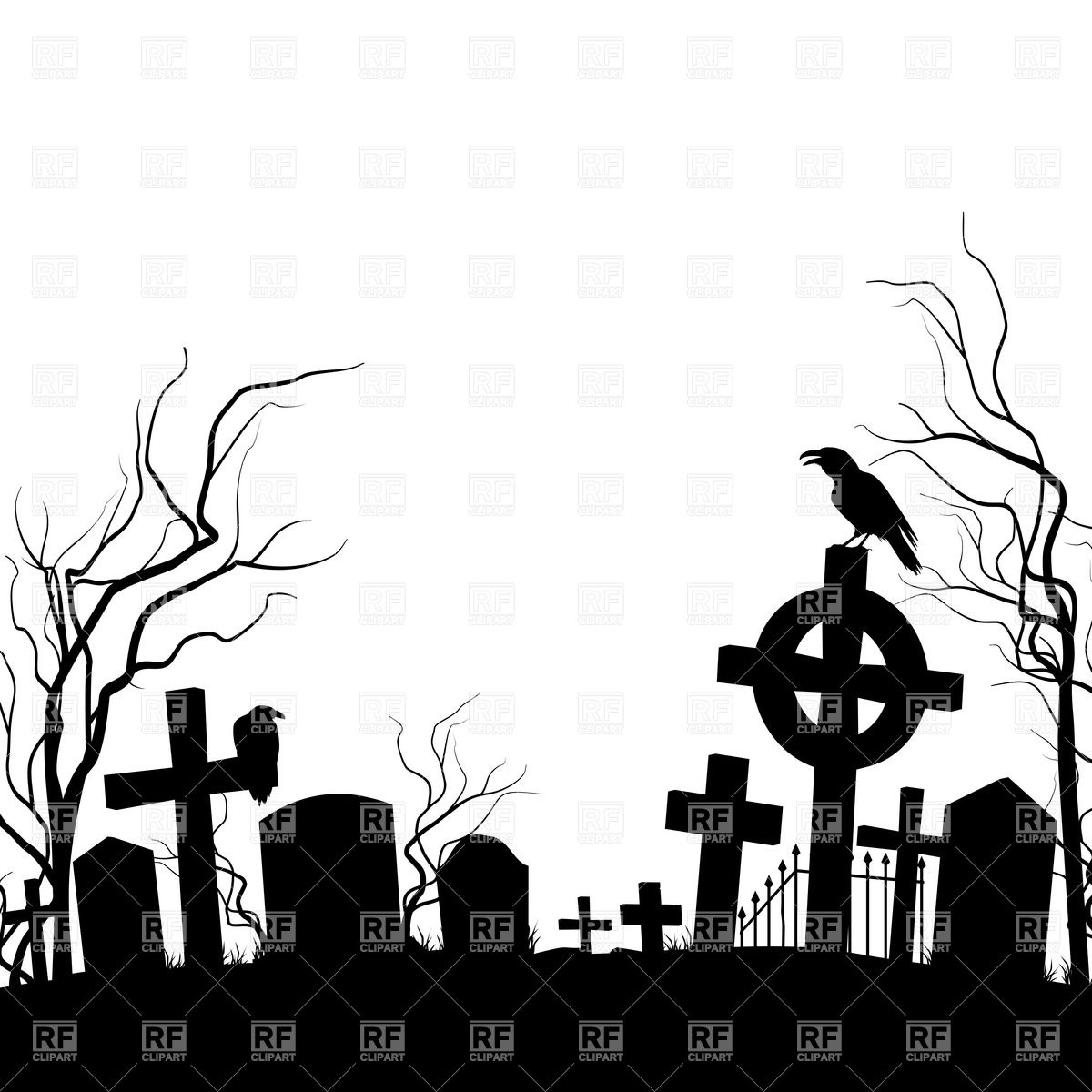 Cemetery clipart graveyard. Awesome collection digital coloring
