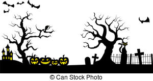 collection of halloween. Cemetery clipart graveyard