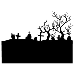 Download sihloutte headstone clip. Cemetery clipart graveyard
