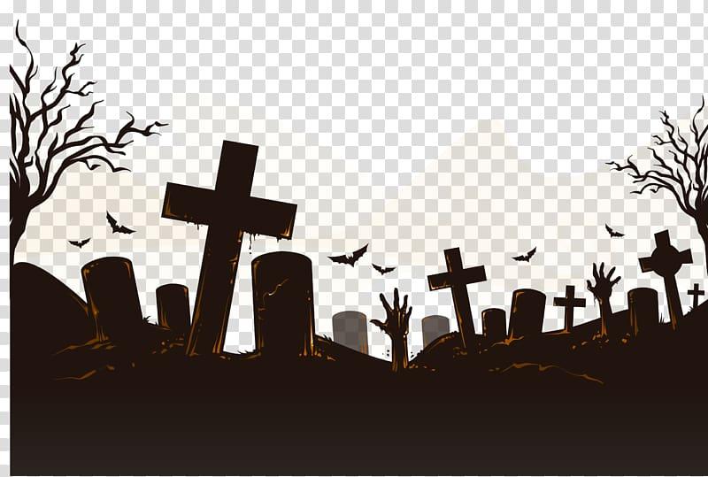 Cemetery clipart halloween. Illustration icon horror bats