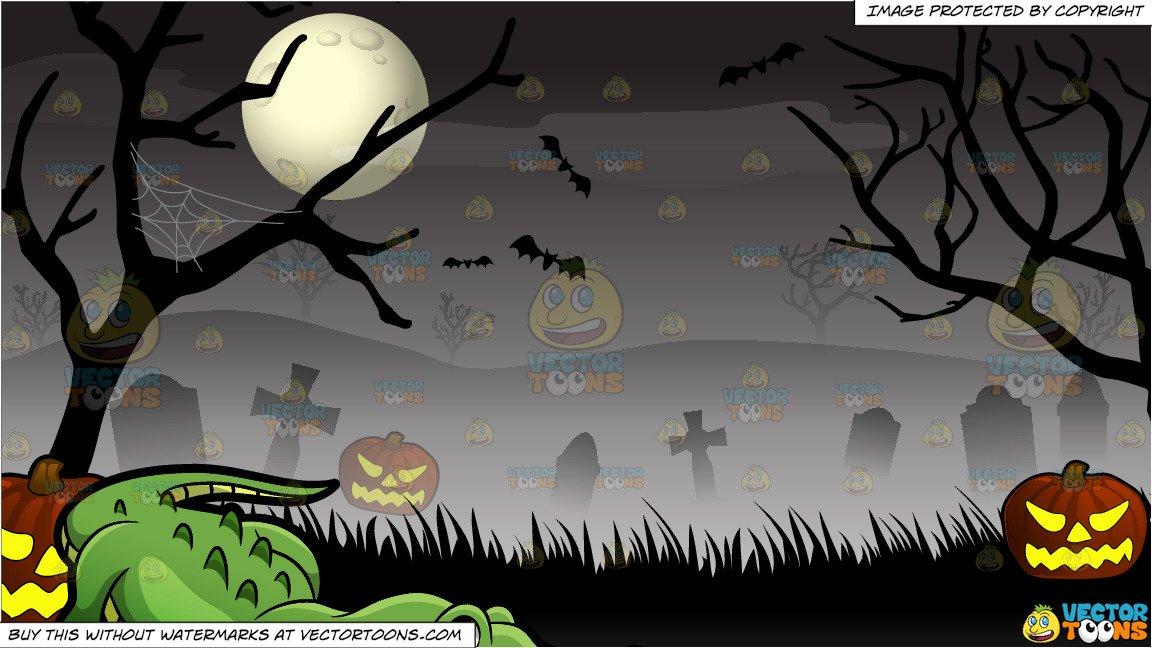 Cemetery clipart halloween. A crocodile at the