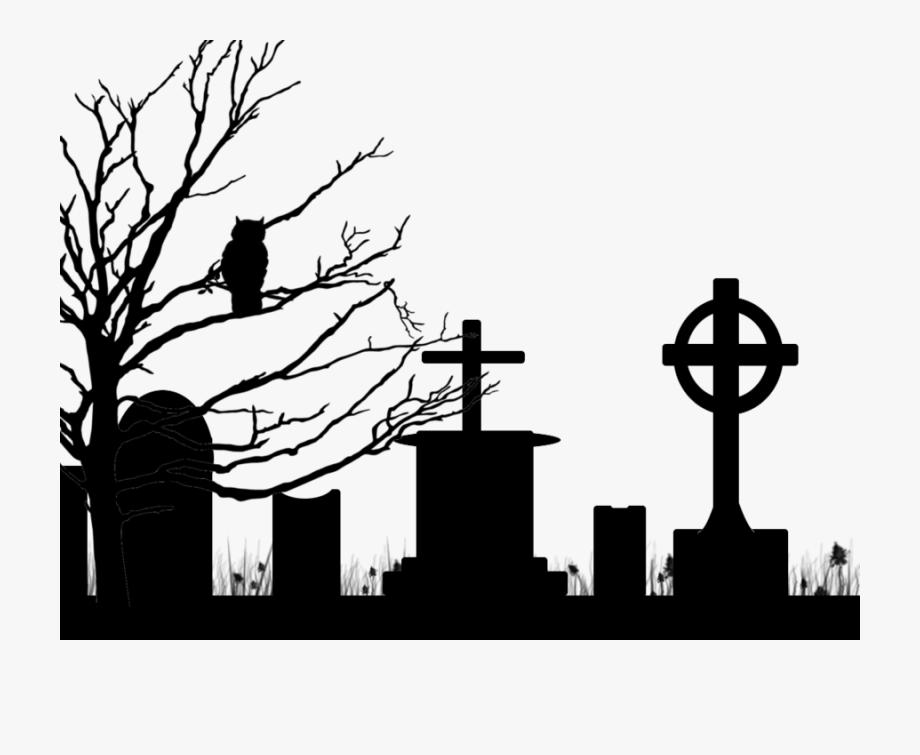Cemetery clipart halloween graveyard.